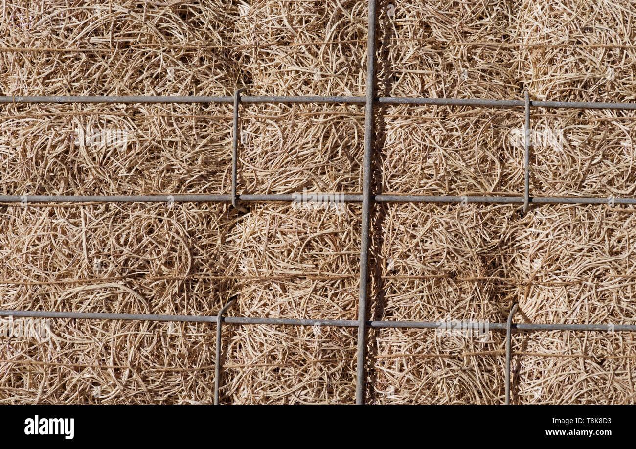 aspen wood evaporative cooler pad background - Stock Image