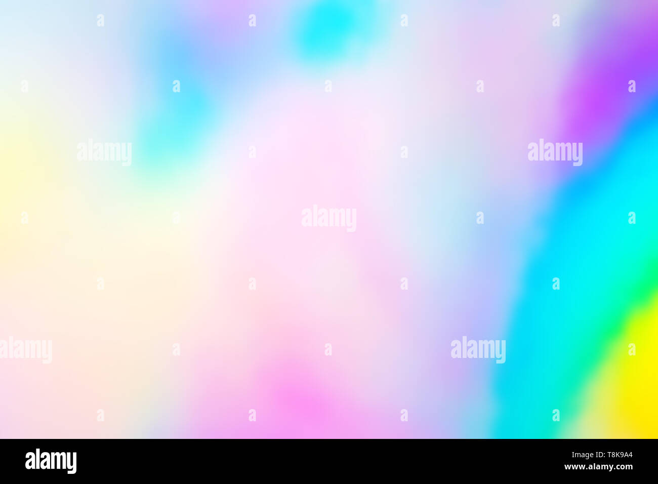colorful holographic paper with rainbow lights. - Stock Image