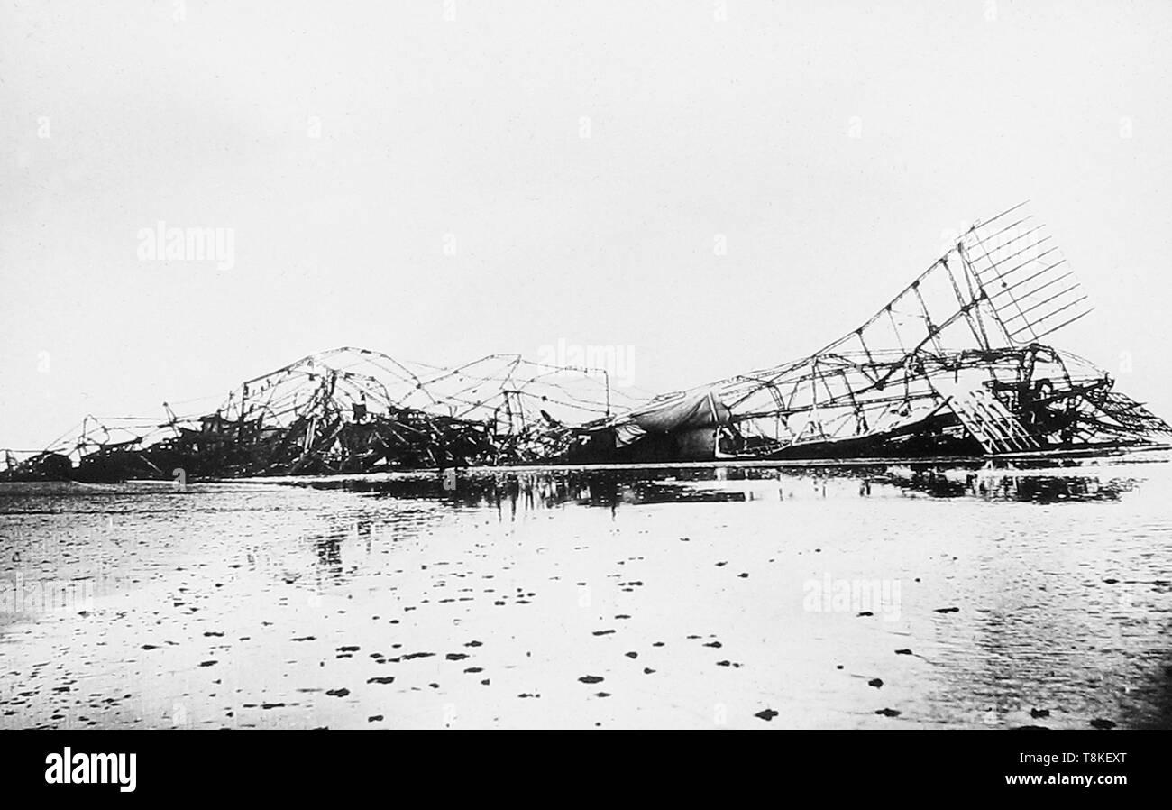 Wreck of Zeppelin L3 in the Faroe Islands - Stock Image