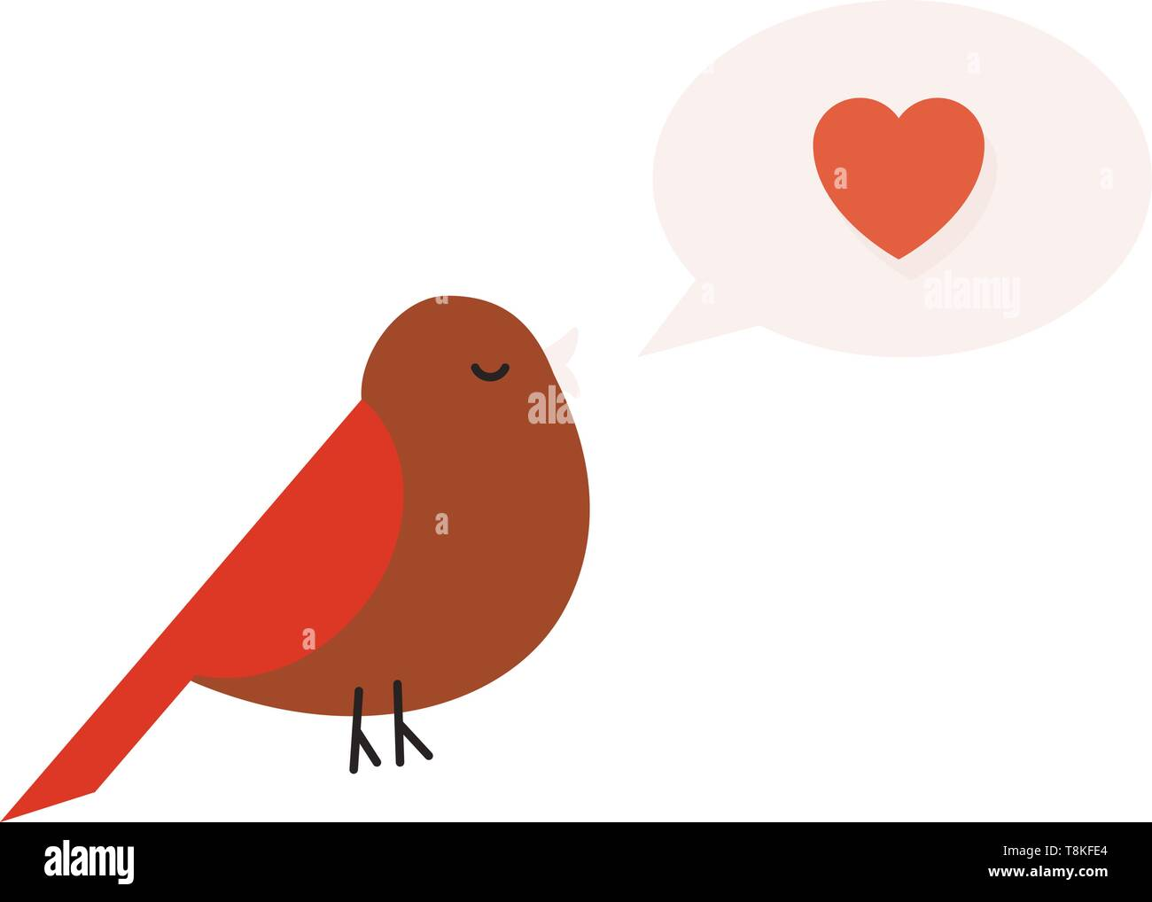 A bird is a warm blooded creature with feathers and wings, typically able to fly., vector, color drawing or illustration. - Stock Vector