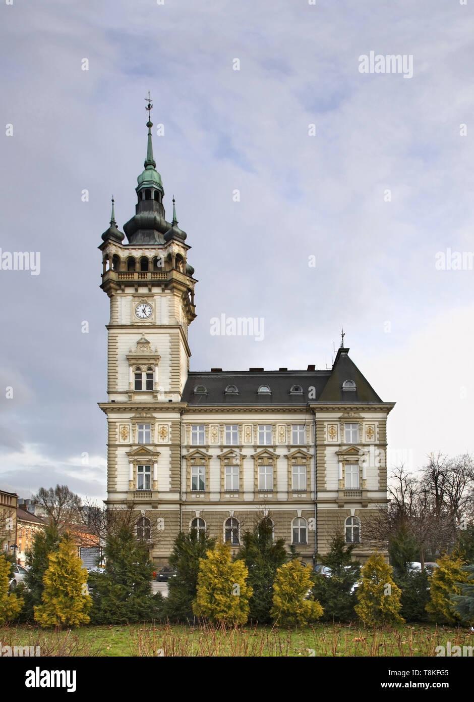 Town hall in Bielsko-Biala. Poland - Stock Image