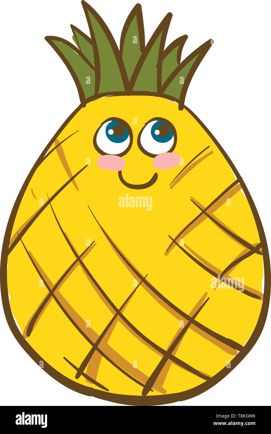 A Colour Illustration Of A Yellow Coloured Pineapple With Green Crown Vector Color Drawing Or Illustration Stock Vector Image Art Alamy Vector illustration. can be used for personal and commercial purposes according to the conditions of. https www alamy com a colour illustration of a yellow coloured pineapple with green crown vector color drawing or illustration image246292738 html