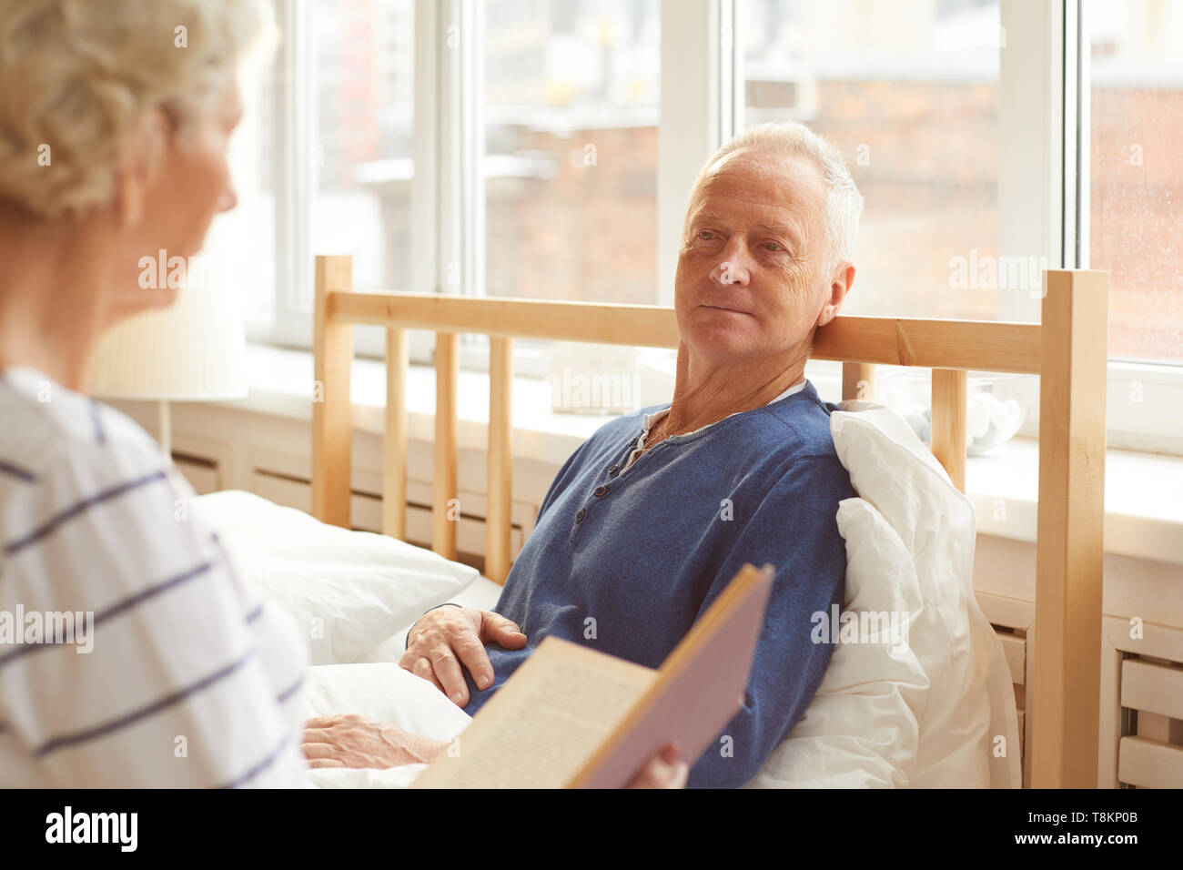 Senior Man in Recovery - Stock Image