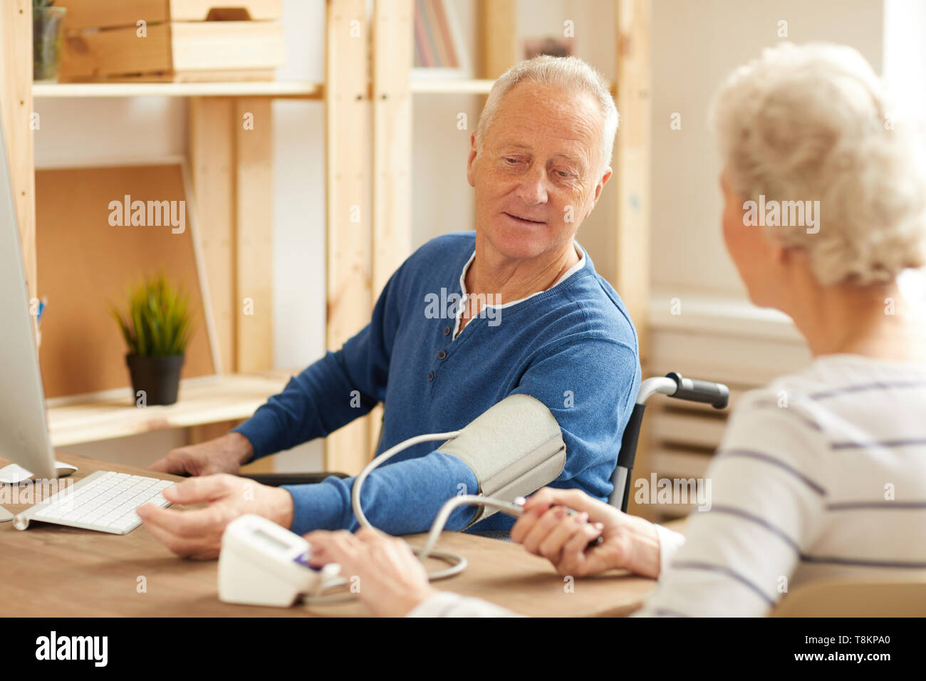 Checking Blood Pressure - Stock Image