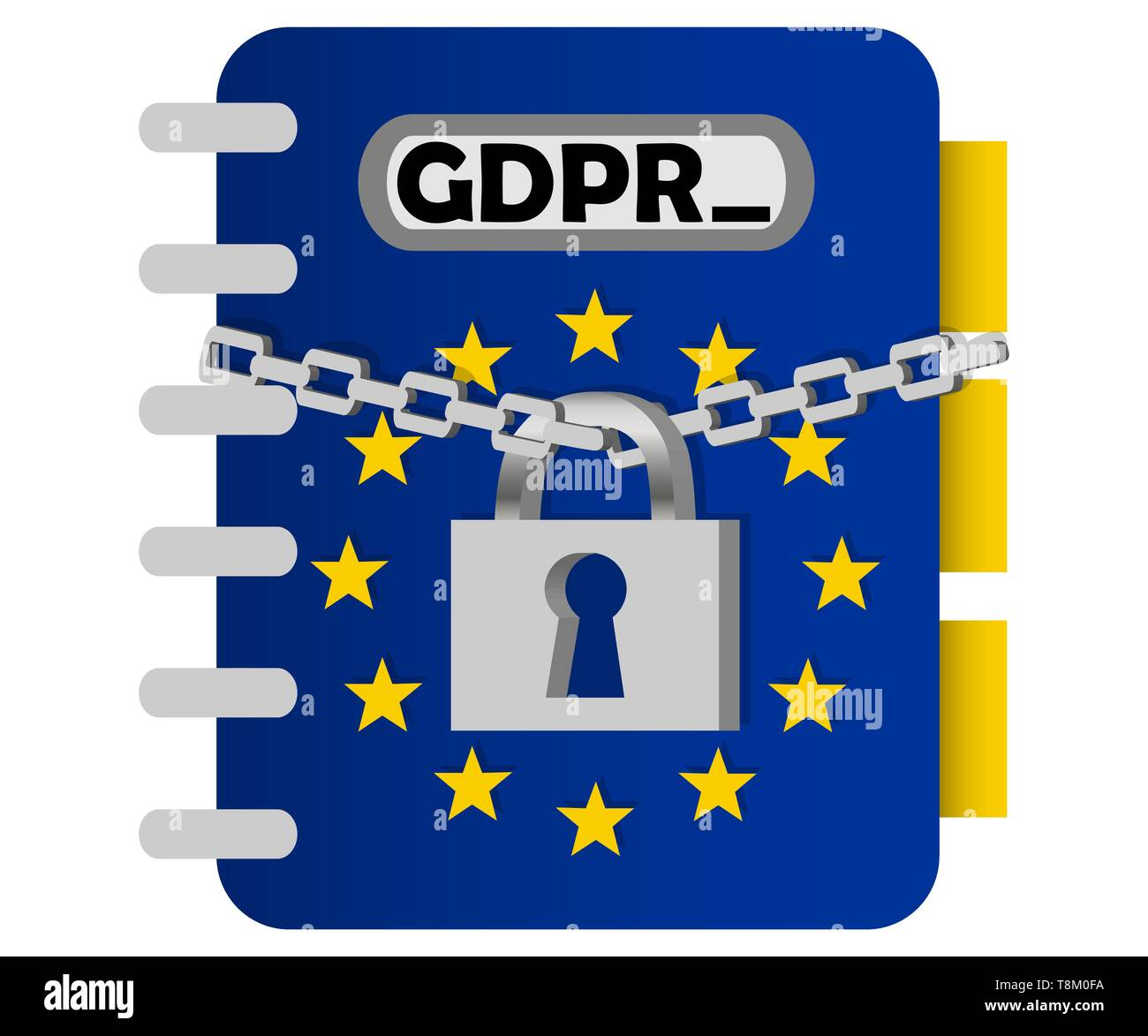 Gdpr concept, data protection, lock locked - Stock Image