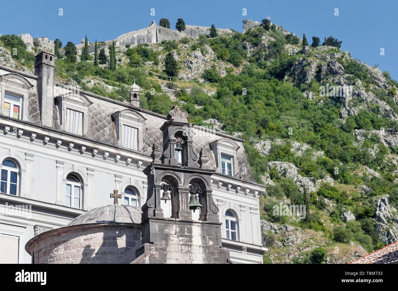 Montenegro, Kotor region, Bay of Kotor, old town of Kotor, Saint-Luc orthodox church Stock Photo