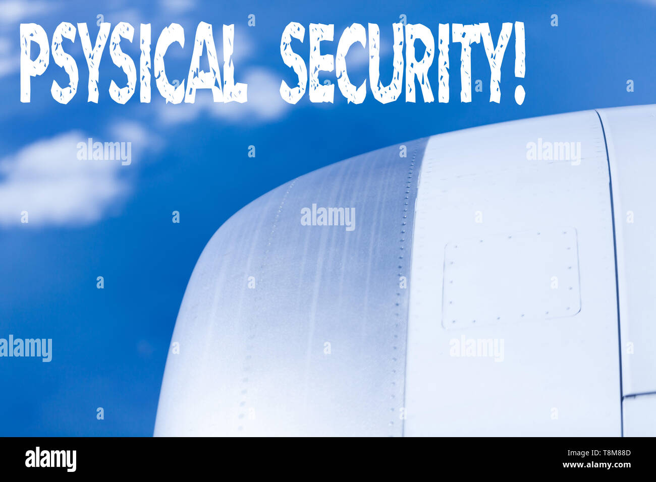 Word writing text Physical Security. Business photo showcasing designed to deny unauthorized access to facilities - Stock Image