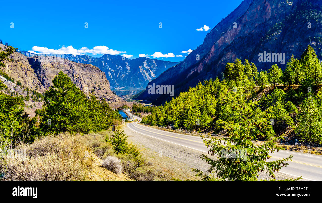 The Coast Mountain Range at the Duffey Lake Road near the town of Lillooet in British Columbia, Canada Stock Photo