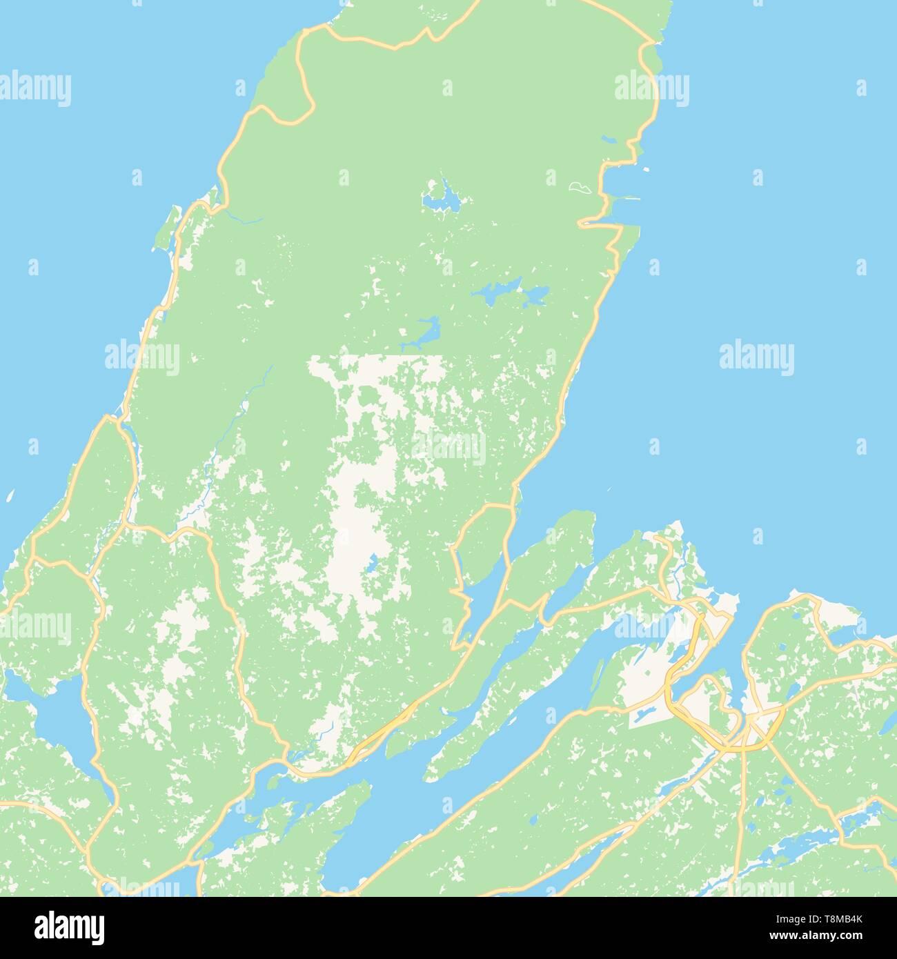 Cape Breton Canada Map on