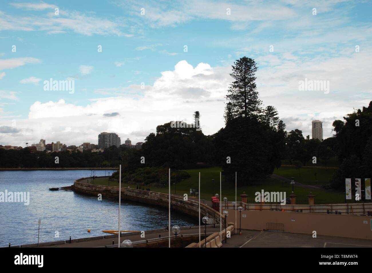 Wonderful morning with blue sky in the Sydney harbour - Stock Image