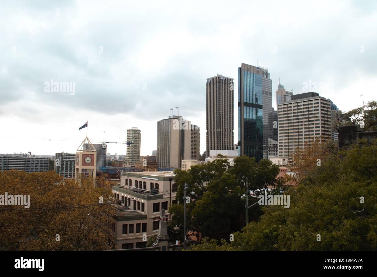 Sydney harbour panoramic view – wonderful skyline - Stock Image