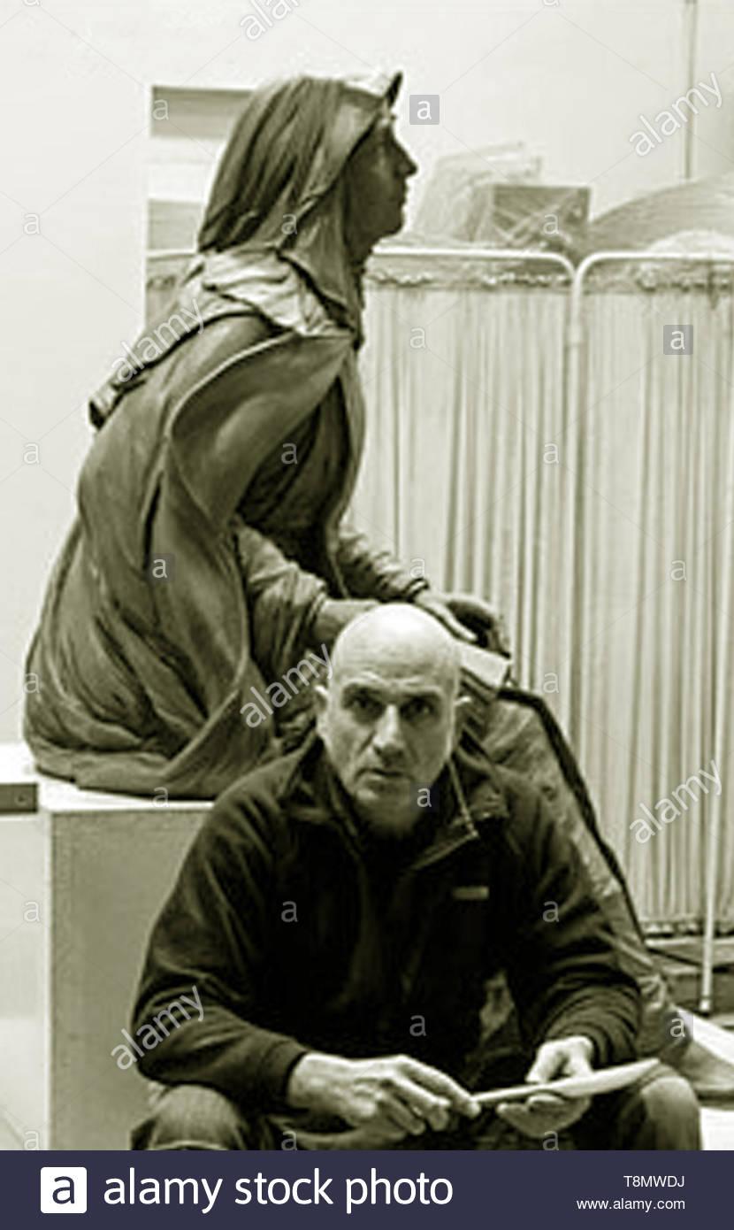 Escultor Oscar Alvariño - Stock Image
