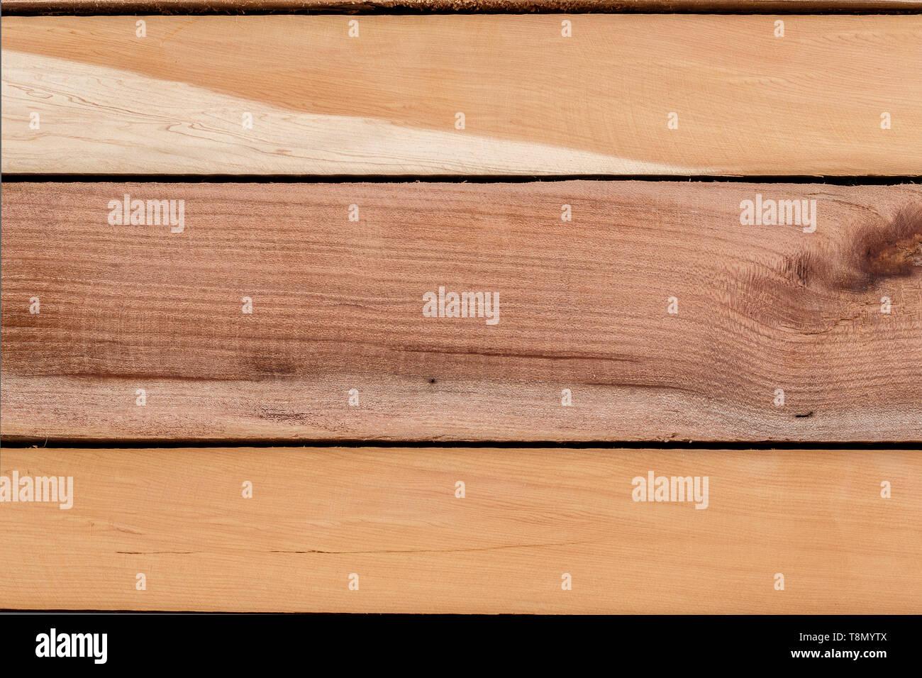 light wooden planks background - Stock Image