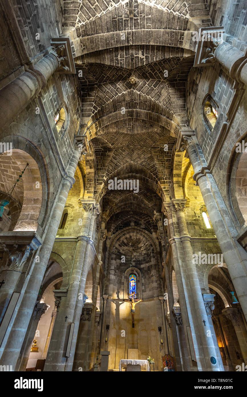 interior of San Giovanni Battista church, Matera - Stock Image