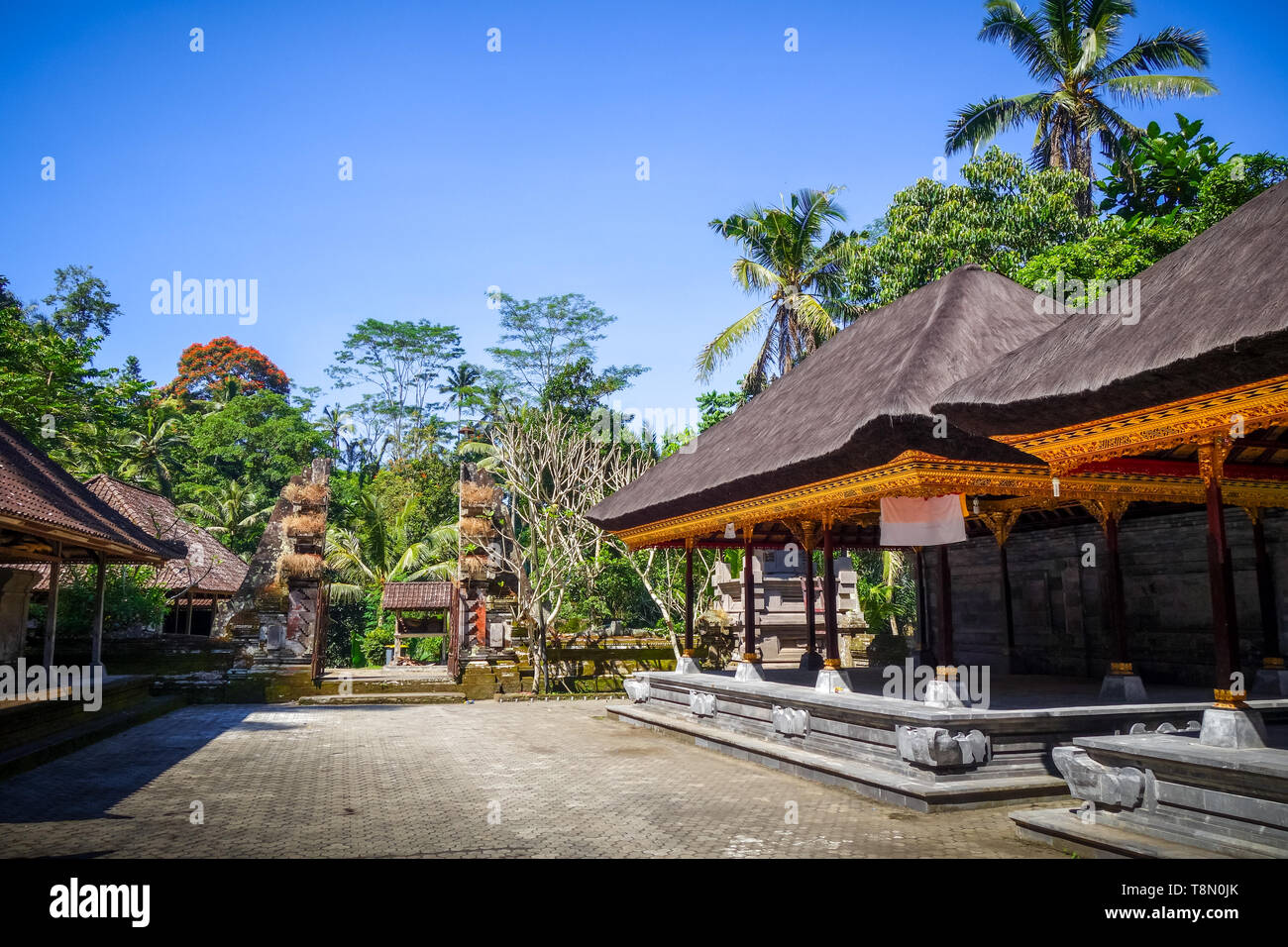 Gunung Kawi funerary temple complex, Tampaksiring, Ubud, Bali, Indonesia - Stock Image