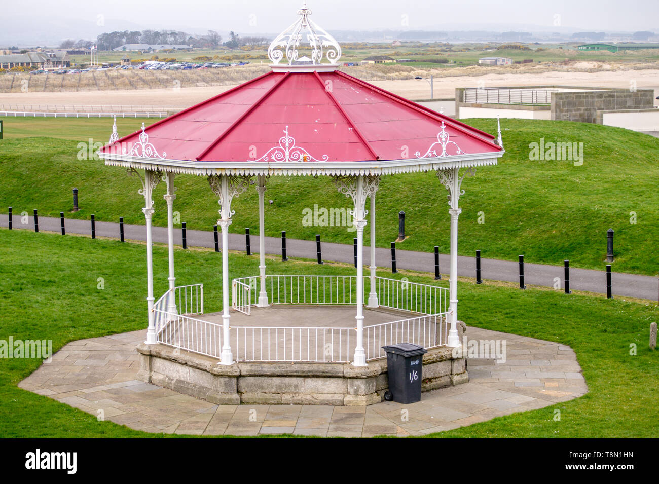 Bandstand by the Sea - Stock Image