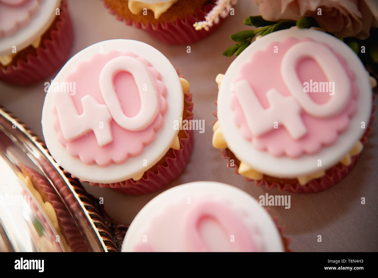 Super 40Th Birthday Cake Stock Photos 40Th Birthday Cake Stock Images Funny Birthday Cards Online Eattedamsfinfo