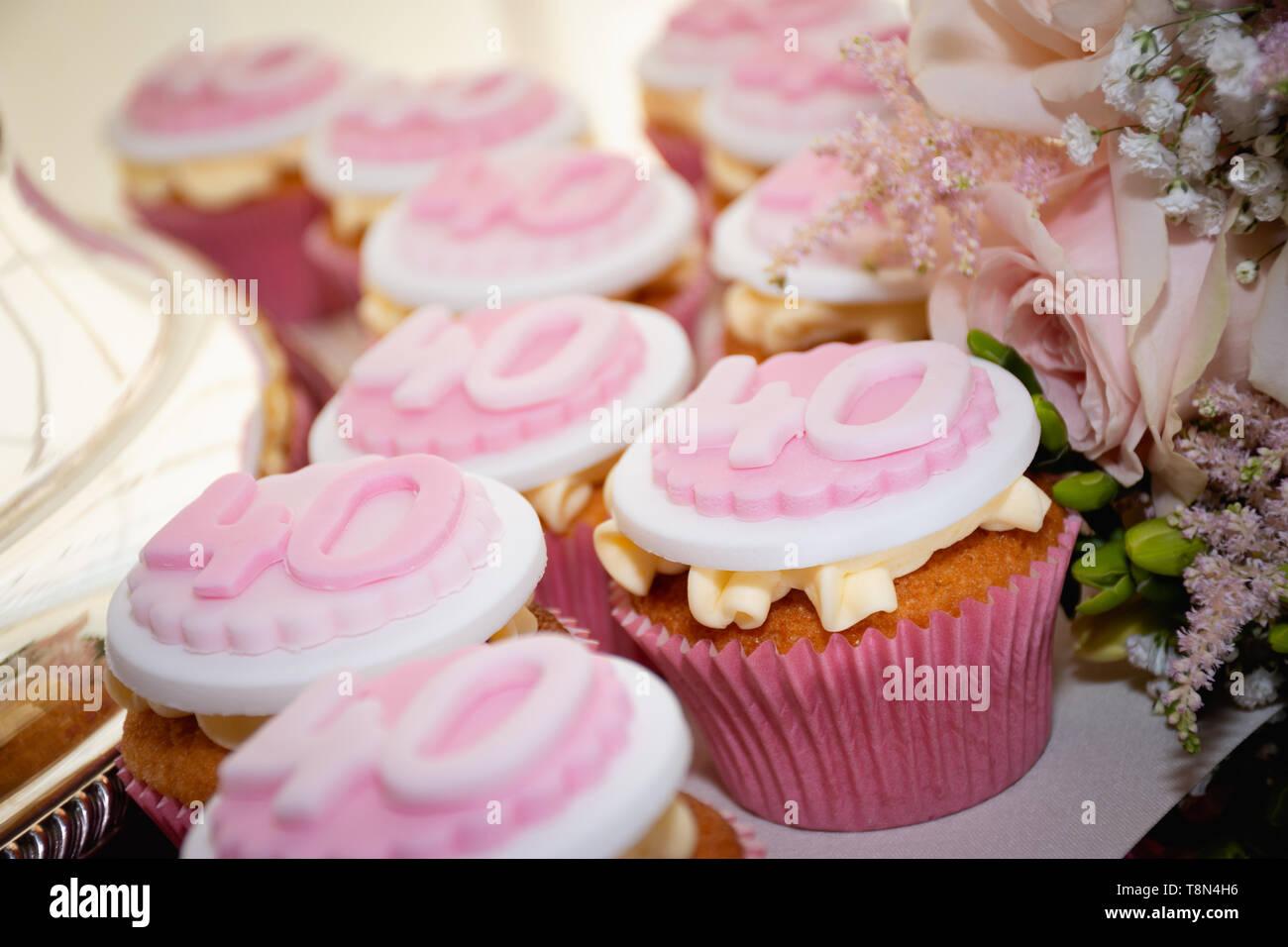 Fabulous 40Th Birthday Cake Stock Photos 40Th Birthday Cake Stock Images Funny Birthday Cards Online Eattedamsfinfo