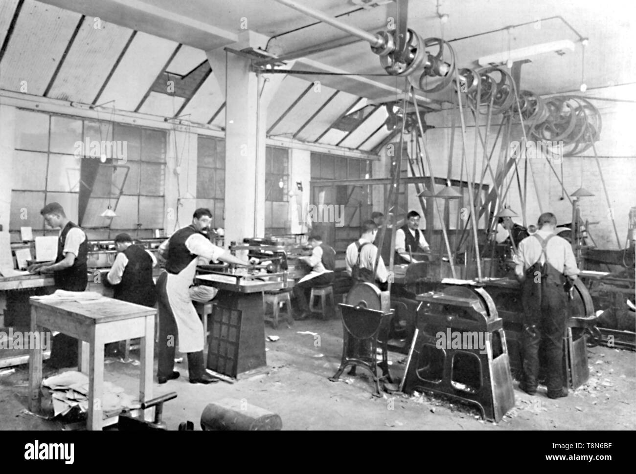 'Dalziel Foundry Limited. - Earl Street Premises. Finishers and Sundry Finishing Plant', 1909. Creator: Unknown. - Stock Image