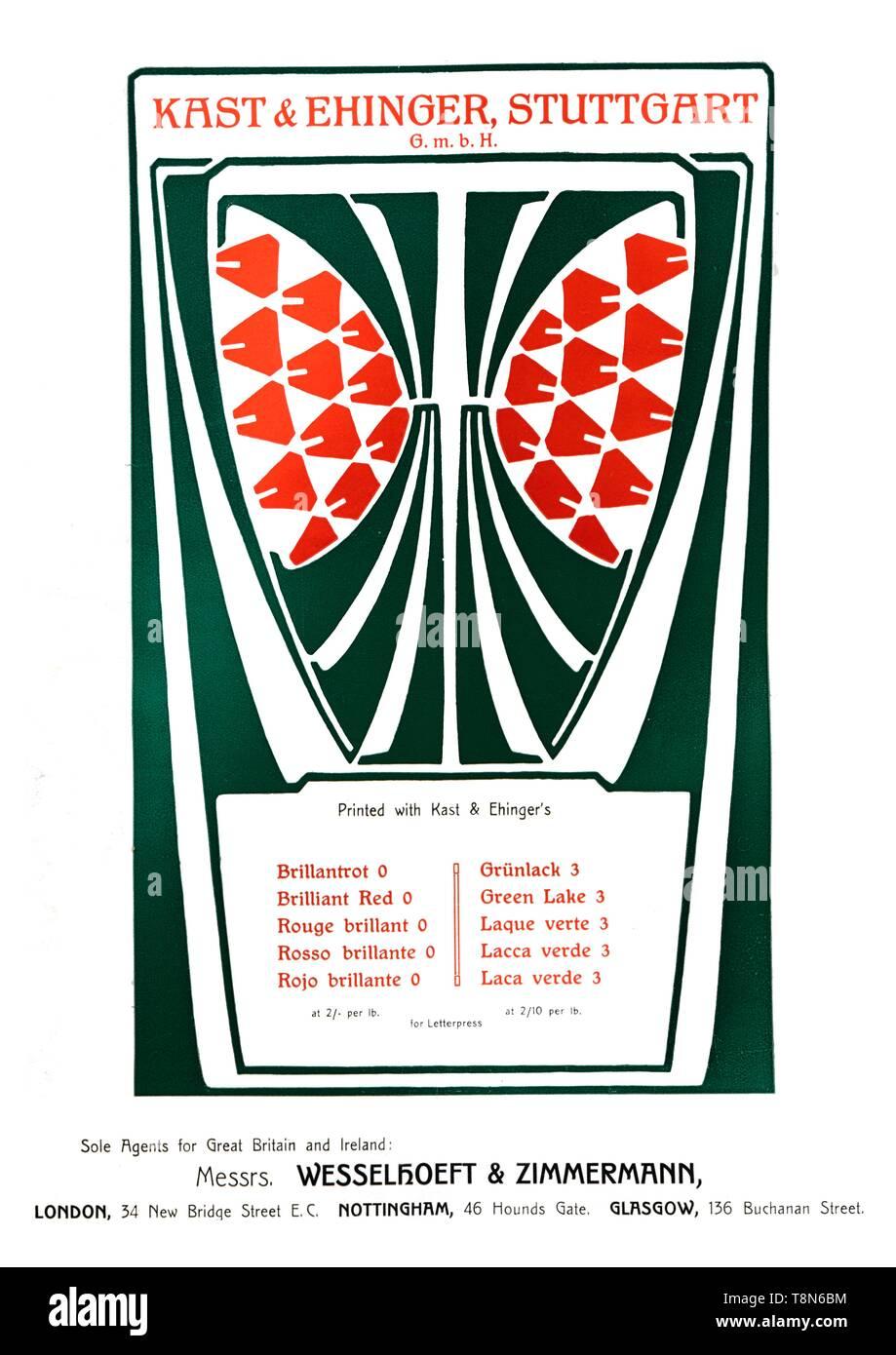 Kast Ehinger Stuttgart Advertisement 1909 Creator
