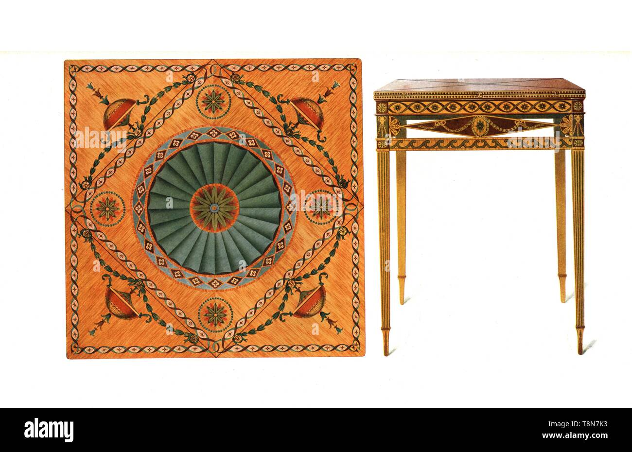 Inlaid Folding Card Table 1908 Creator Shirley Slocombe