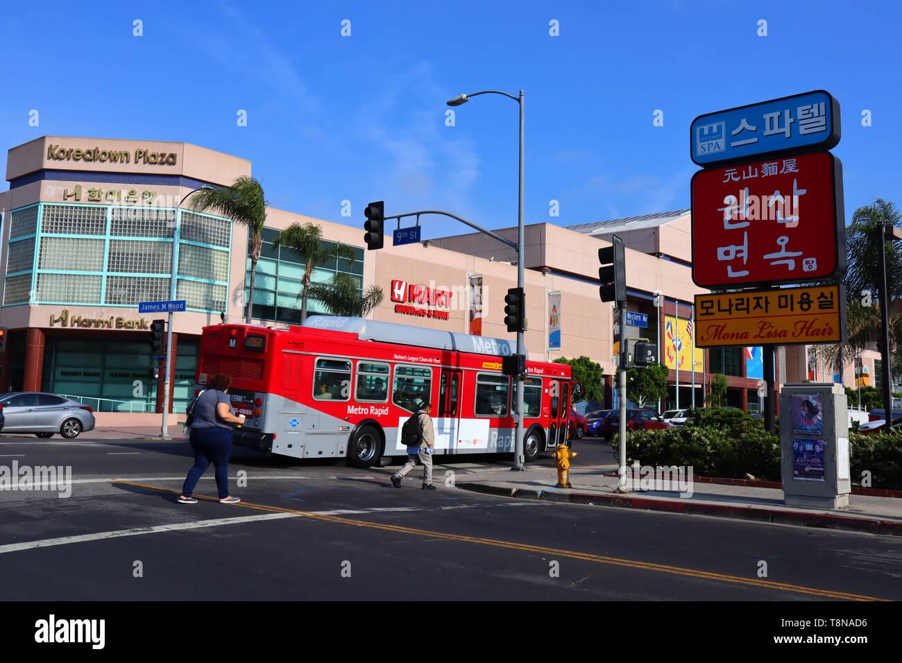 KOREATOWN a neighborhood of LOS ANGELES downtown Stock Photo