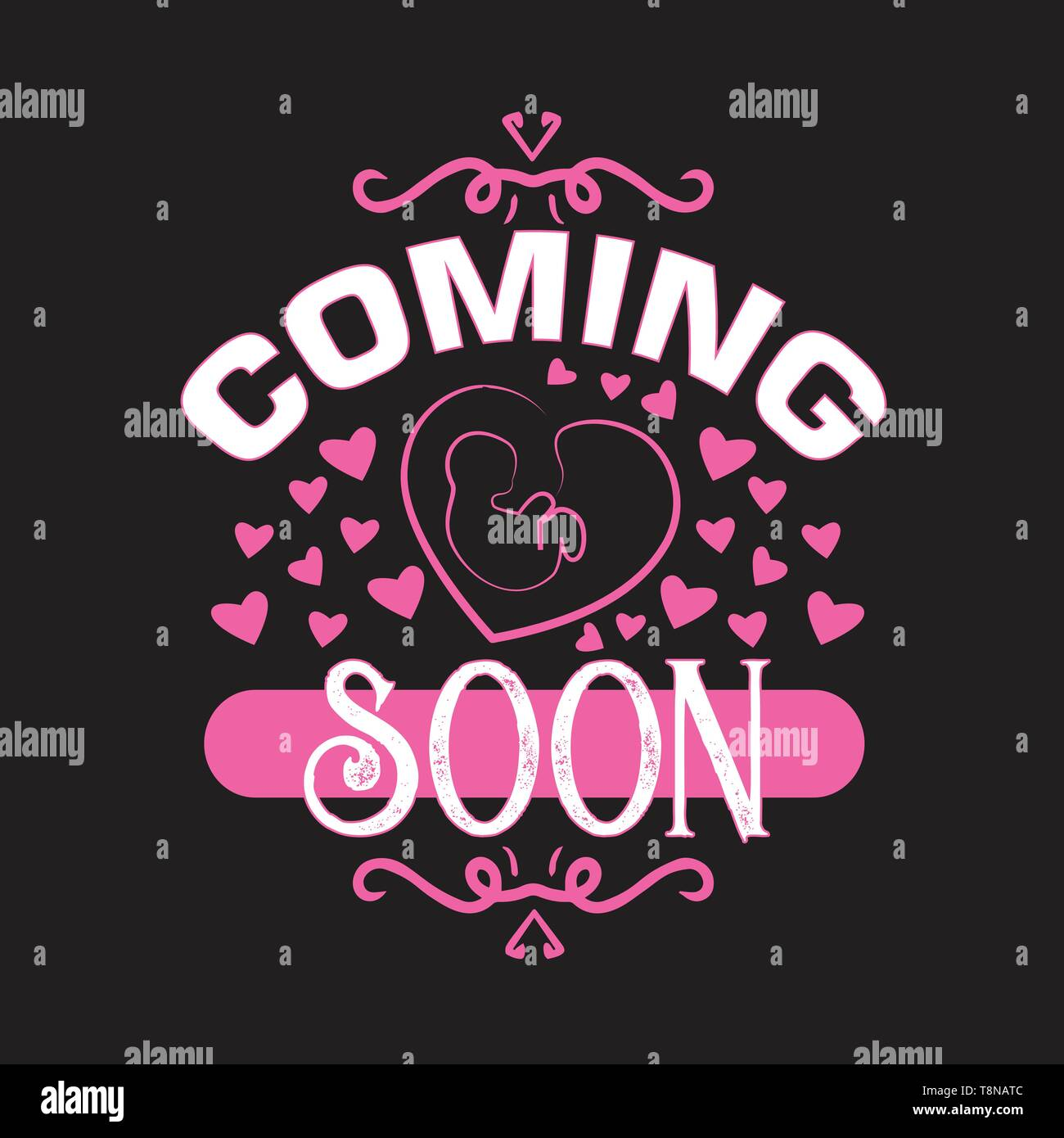 Pregnant Quote And Saying Baby Coming Soon Stock Vector Image Art Alamy