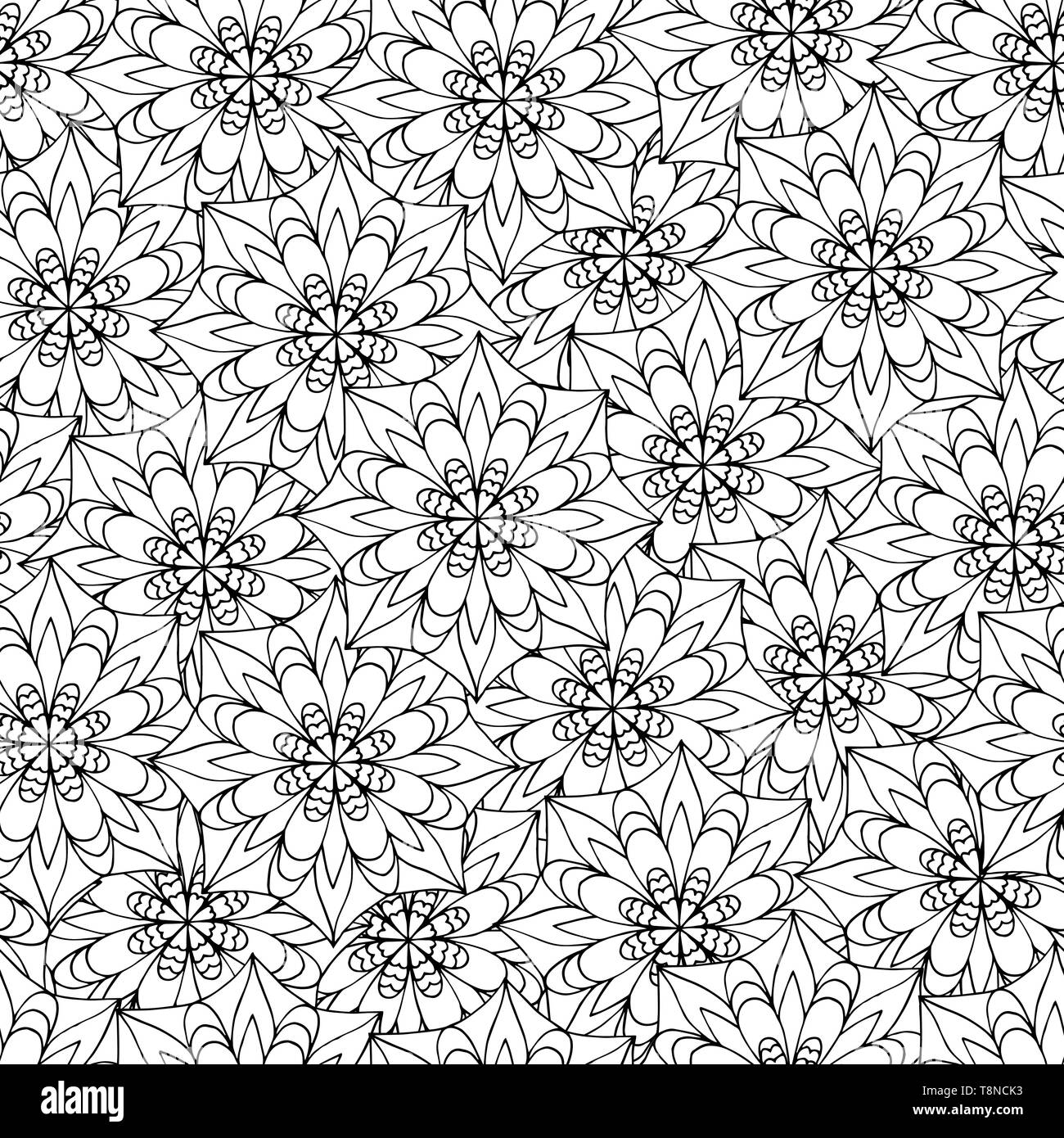 Abstract seamless pattern of mandala, coloring pages for ...
