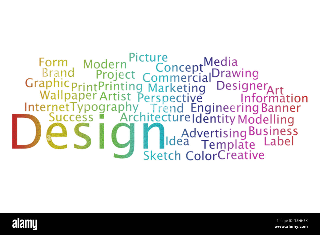 Design word cloud collage. Business and Technology concept. - Stock Image