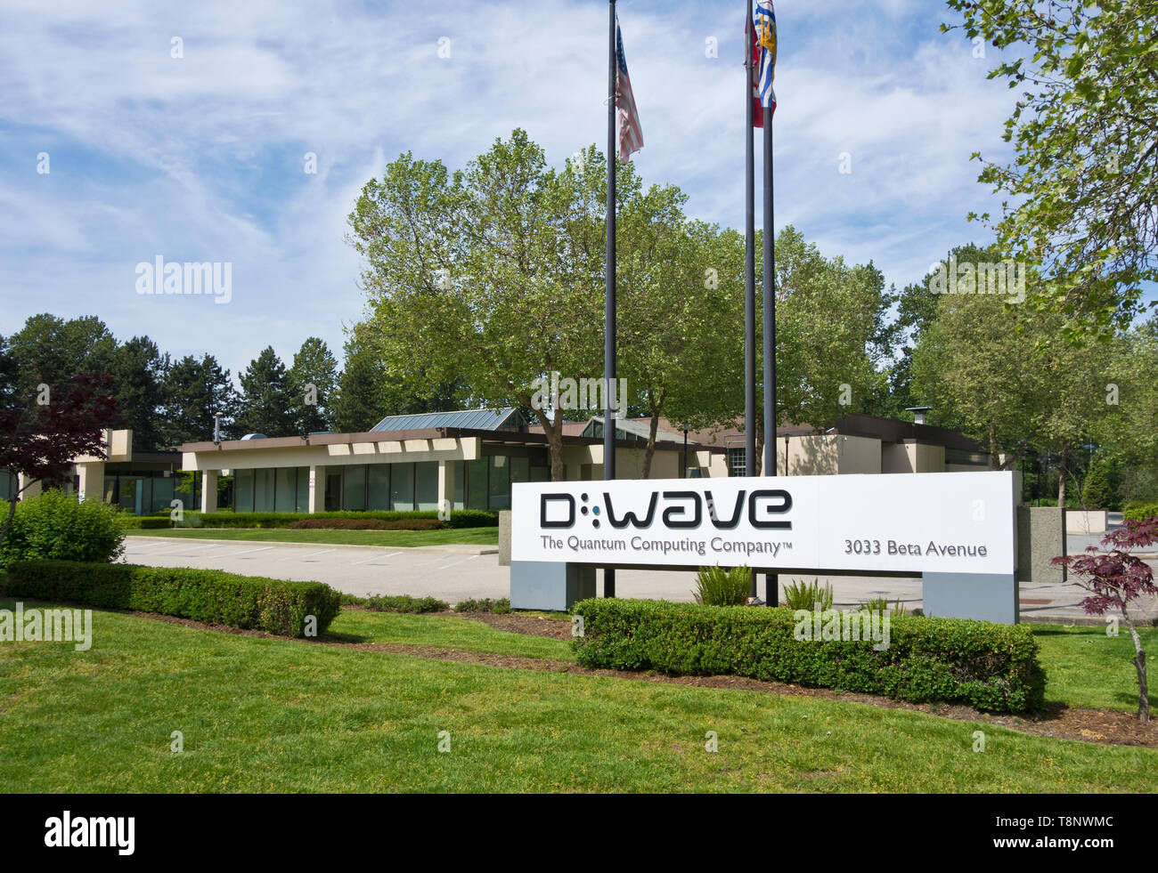 D-Wave Quantum computing company in Burnaby, British Columbia, Canada. - Stock Image