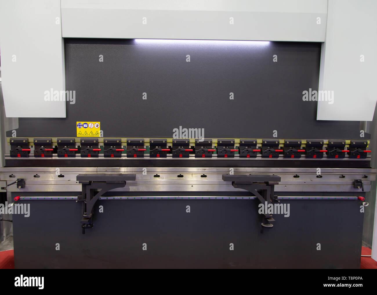 Cnc Brake Press Machine Stock Photos & Cnc Brake Press