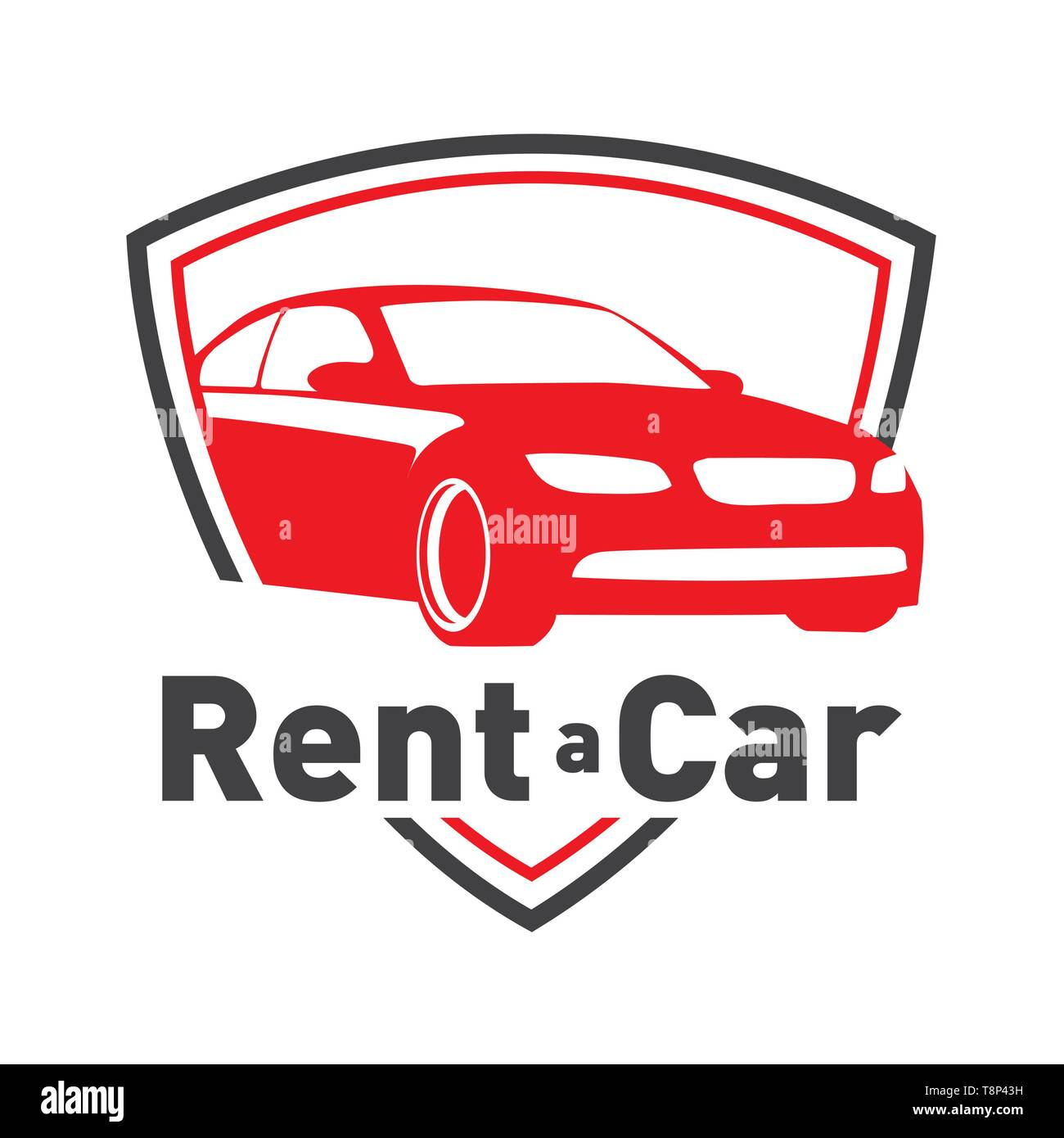 Vector Logo For Car Rental And Sales Stock Vector Image Art Alamy