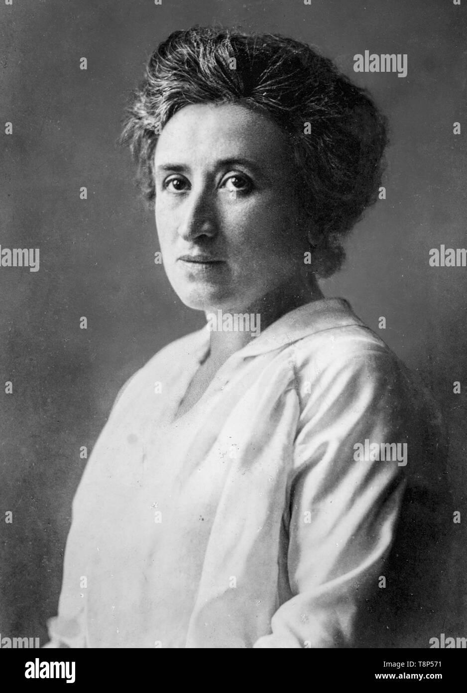 Rosa Luxemburg, portrait photograph, c. 1895 - Stock Image