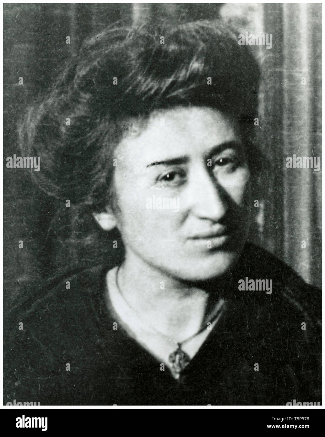 Rosa Luxembourg, portrait photograph, 1910 - Stock Image