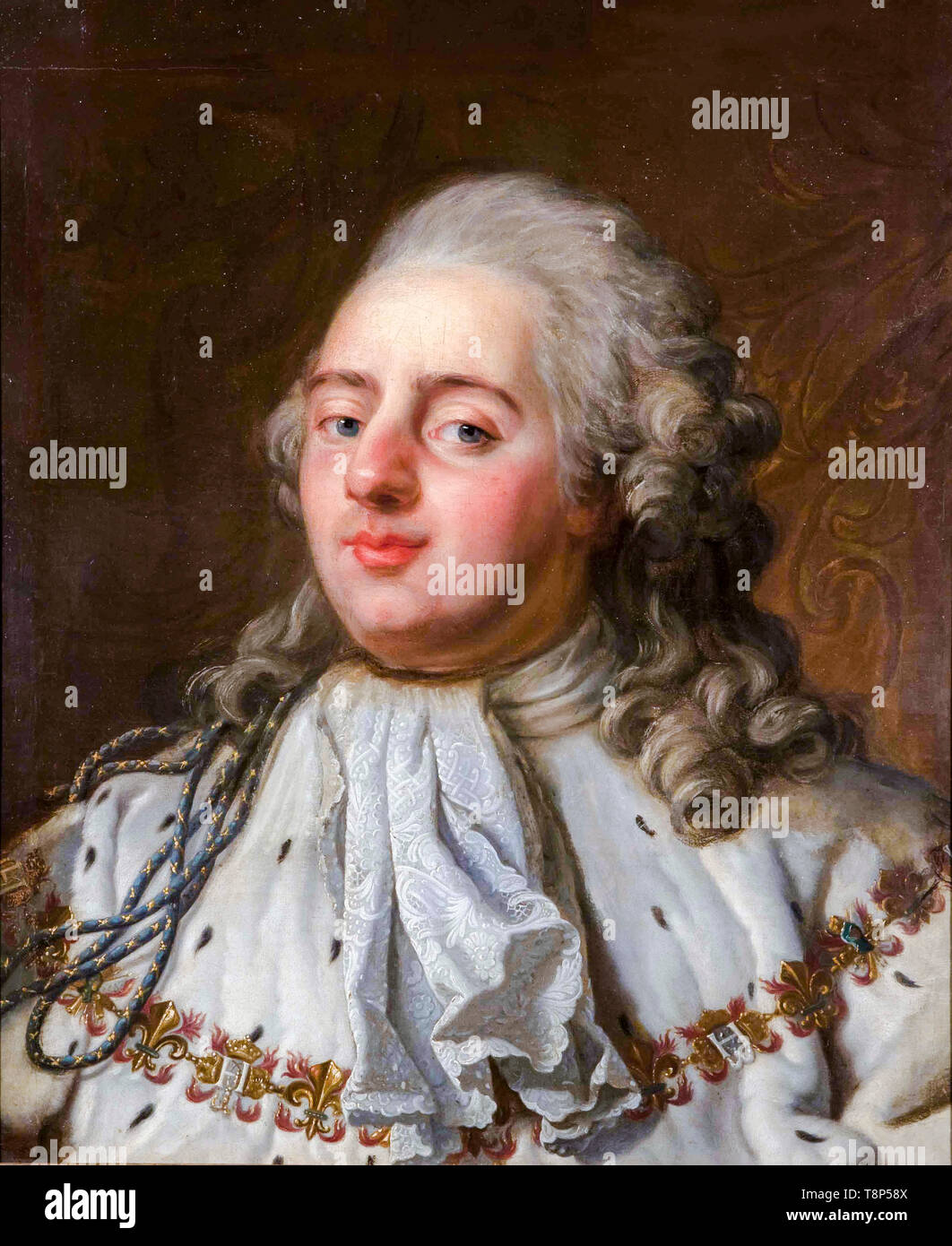 Antoine-François Callet, Portrait of Louis XVI of France, painting, 18th Century - Stock Image