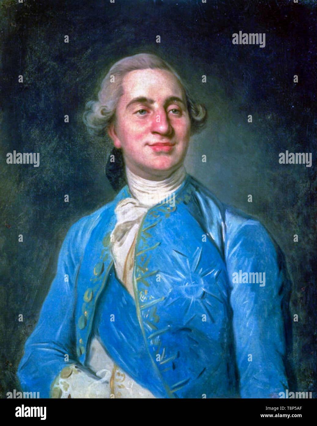 Joseph Duplessis, Louis XVI of France, portrait, painting, 1775 - Stock Image