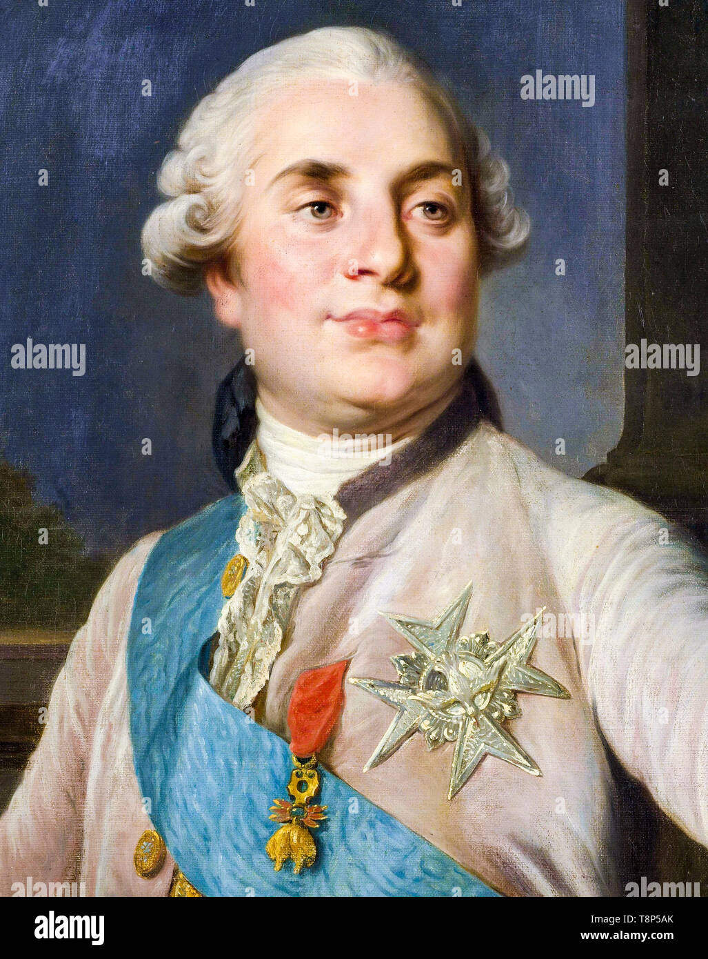 Portrait of Louis XVI, King of France, c. 1777 RKM Stock Photo