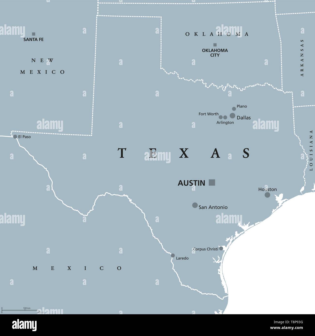 Texas political map with capital Austin. State in the South ... on texas austin, fox news austin, halloween austin,