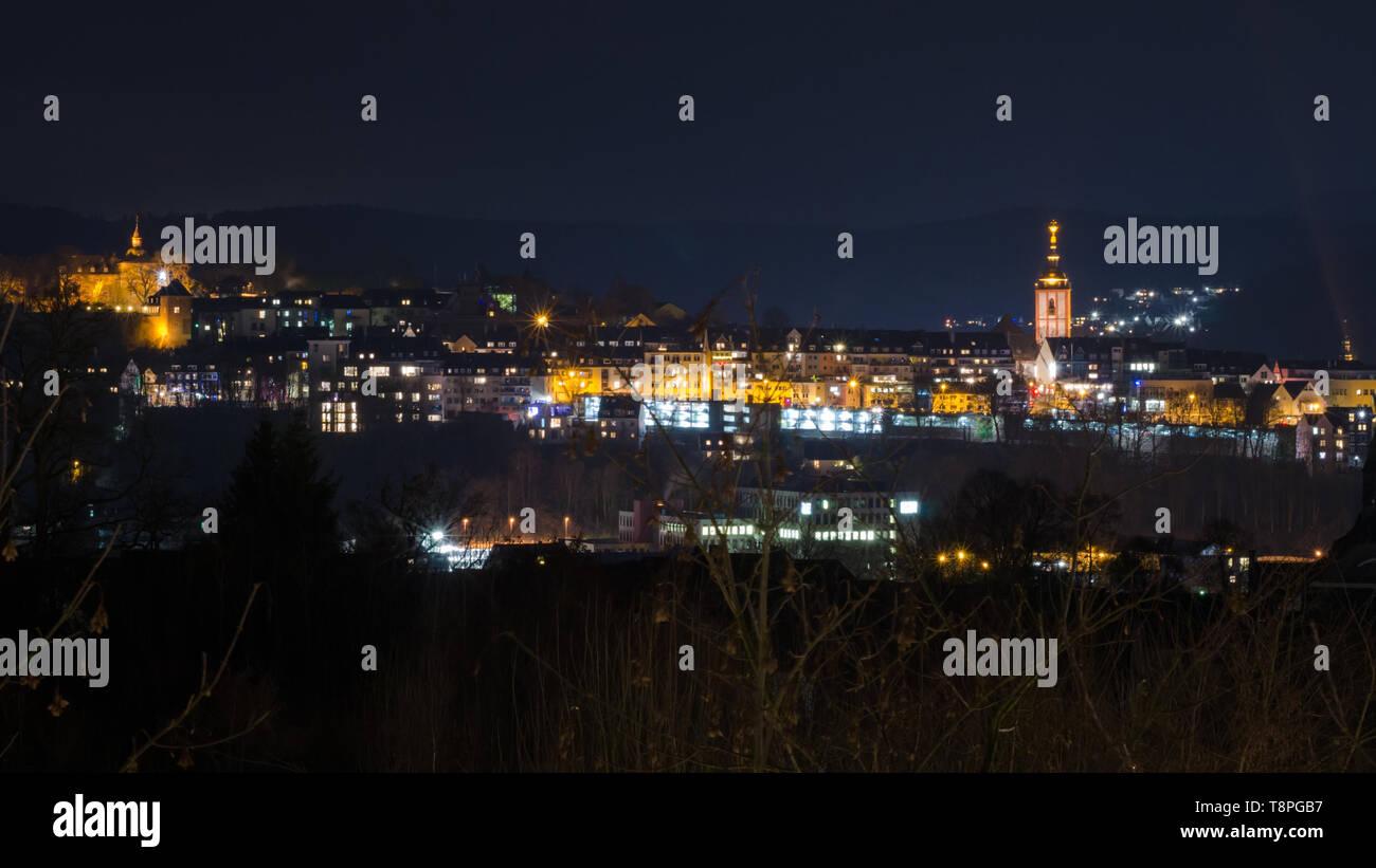 Siegen bei Nacht - Stock Image