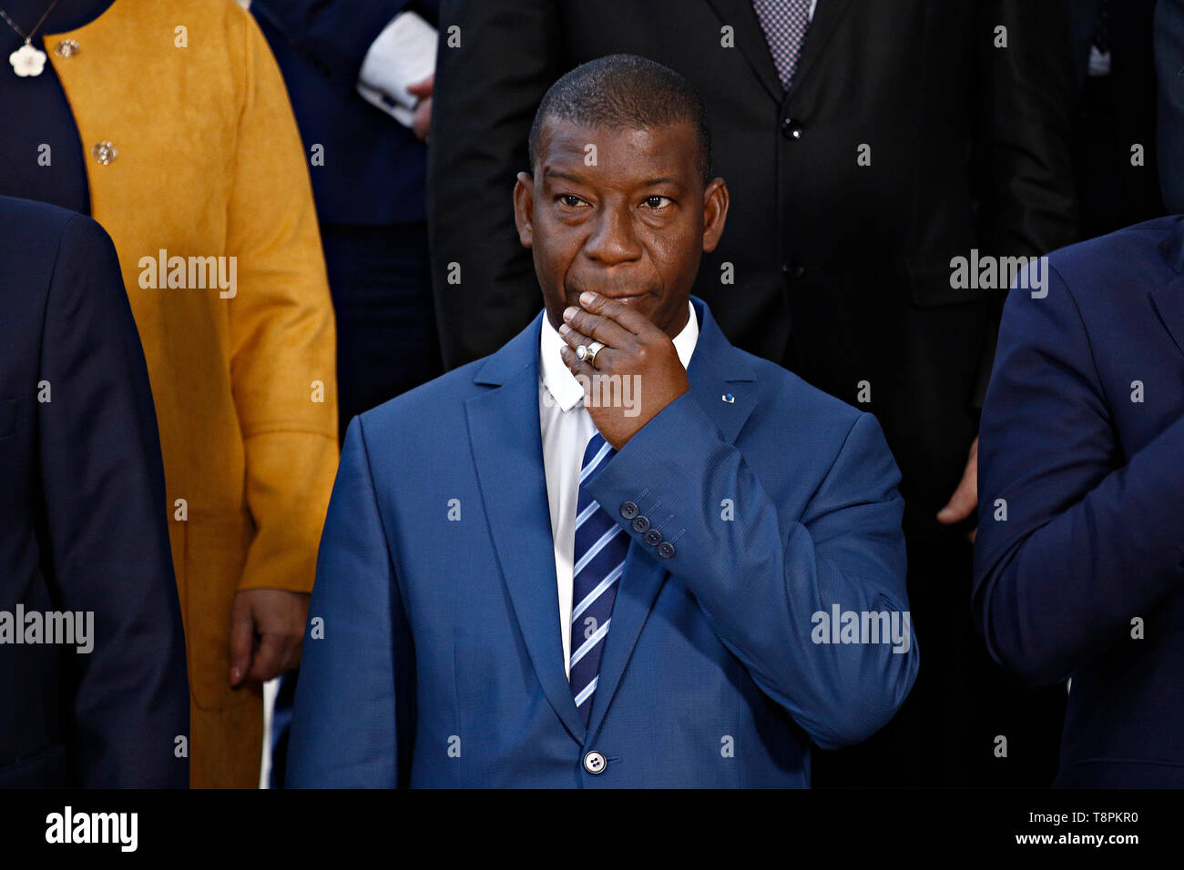 Brussels, Belgium. 14th May 2019. Defence Minister of Mali, Ibrahima Dahirou DEMBELE attends in meeting of EU defense ministers and their counterparts of the G5 Sahel at the EU headquarters. Credit: ALEXANDROS MICHAILIDIS/Alamy Live News - Stock Image