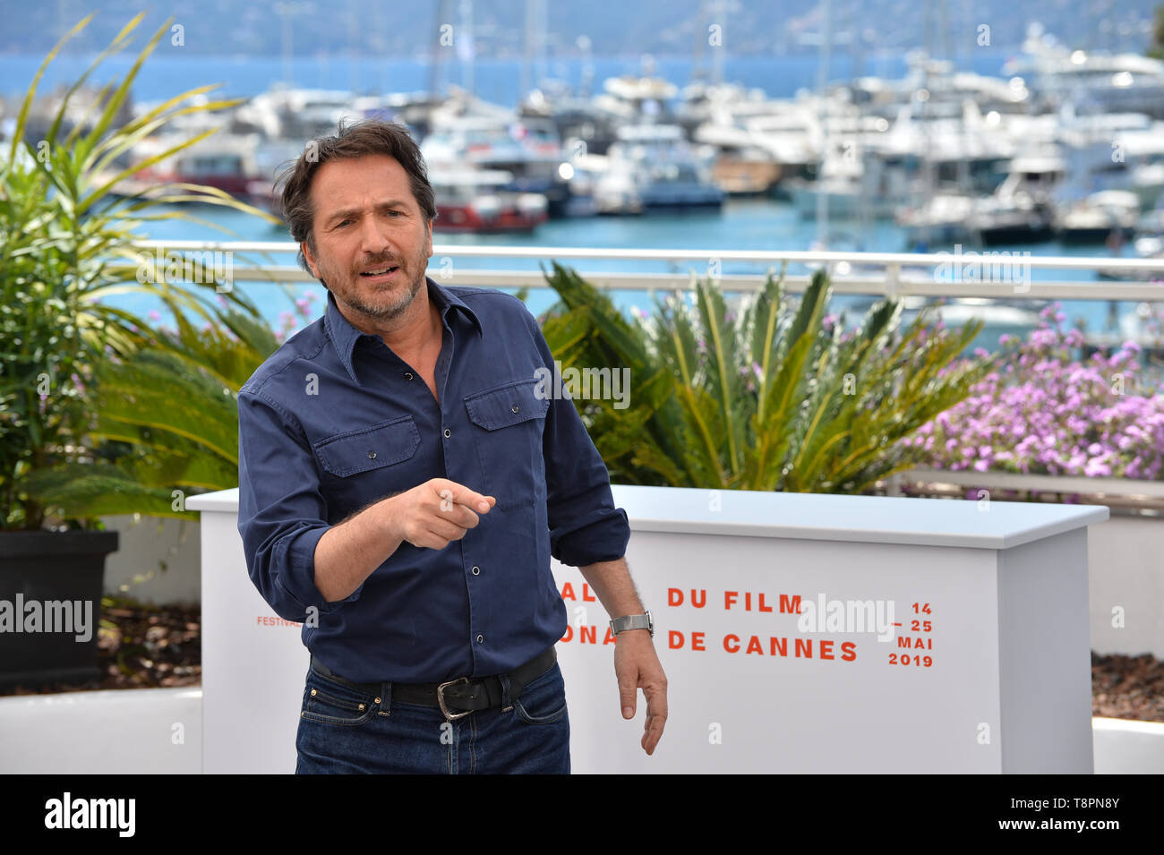 Cannes, France. 14th May, 2019. Edouard Baer at the photocall for Master of Ceremonies at the 72nd Festival de Cannes. Credit: Paul Smith/Alamy Live News Stock Photo