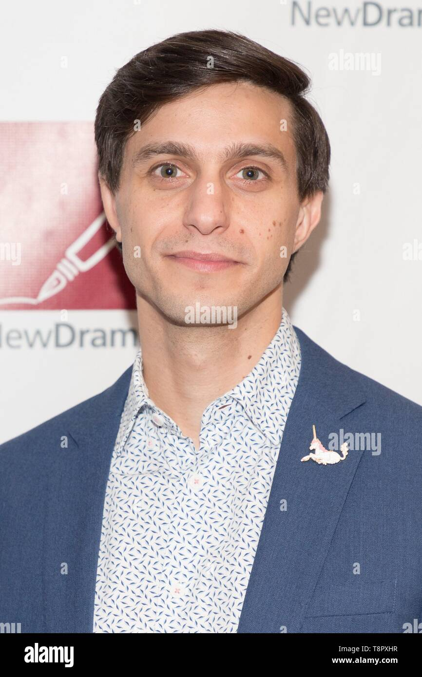 New York, NY, USA. 14th May, 2019. Gideon Glick at arrivals for New Dramatists 70th Annual Spring Luncheon, Marriott Marquis New York, New York, NY May 14, 2019. Credit: Jason Smith/Everett Collection/Alamy Live News - Stock Image