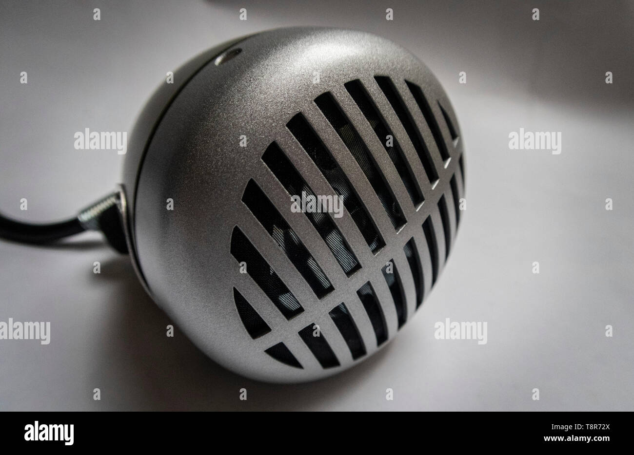 Shure Green Bullet 520 DX harmonica microphone, Modern classic dynamic omnidirectional mic. - Stock Image