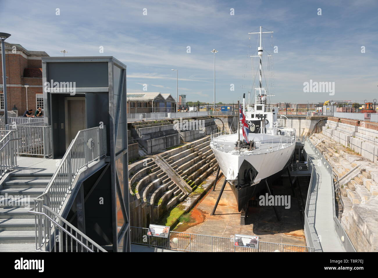 Portsmouth Historic Dockyard, UK. Stock Photo