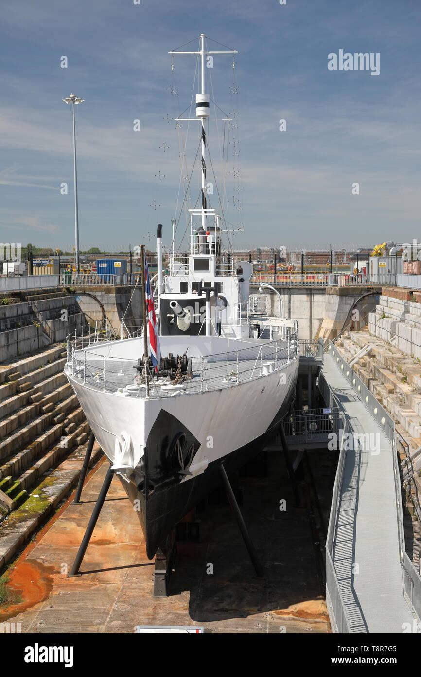 Portsmouth Historic Dockyard, UK. - Stock Image
