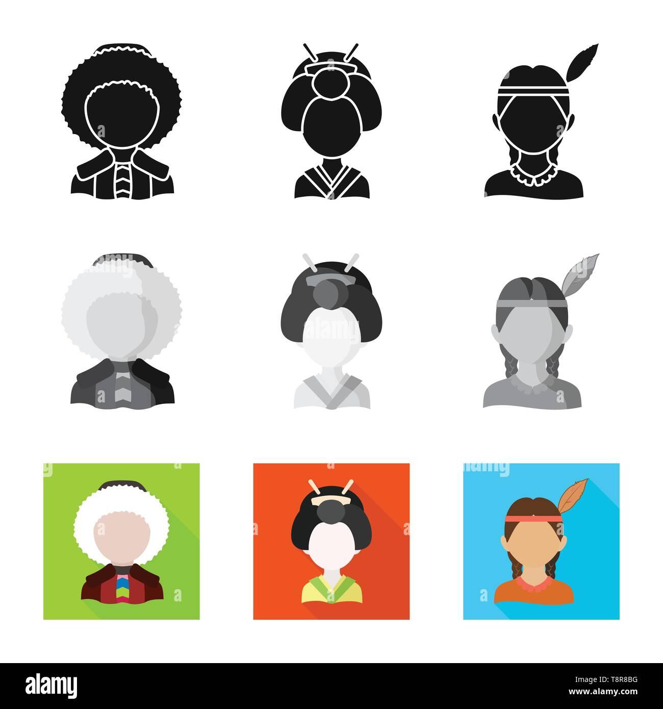 Vector illustration of imitator and resident sign. Collection of imitator and culture stock vector illustration. - Stock Image