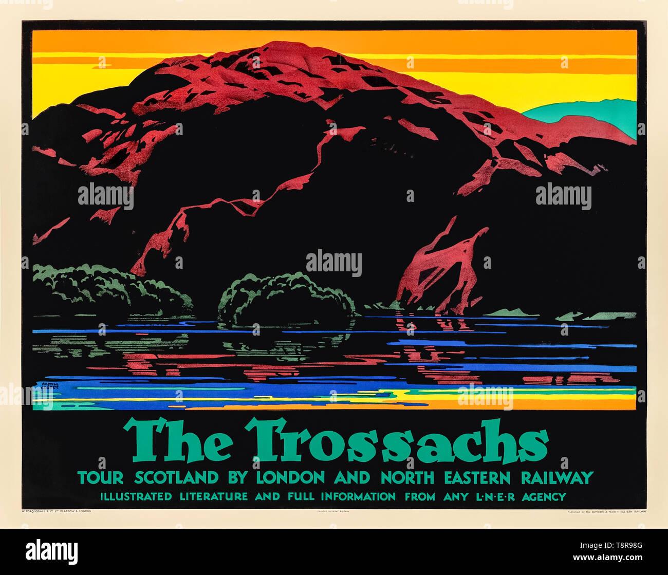 Eastern Scotland Railway Beautiful Amazing Advert Poster Holiday Mountain Photo