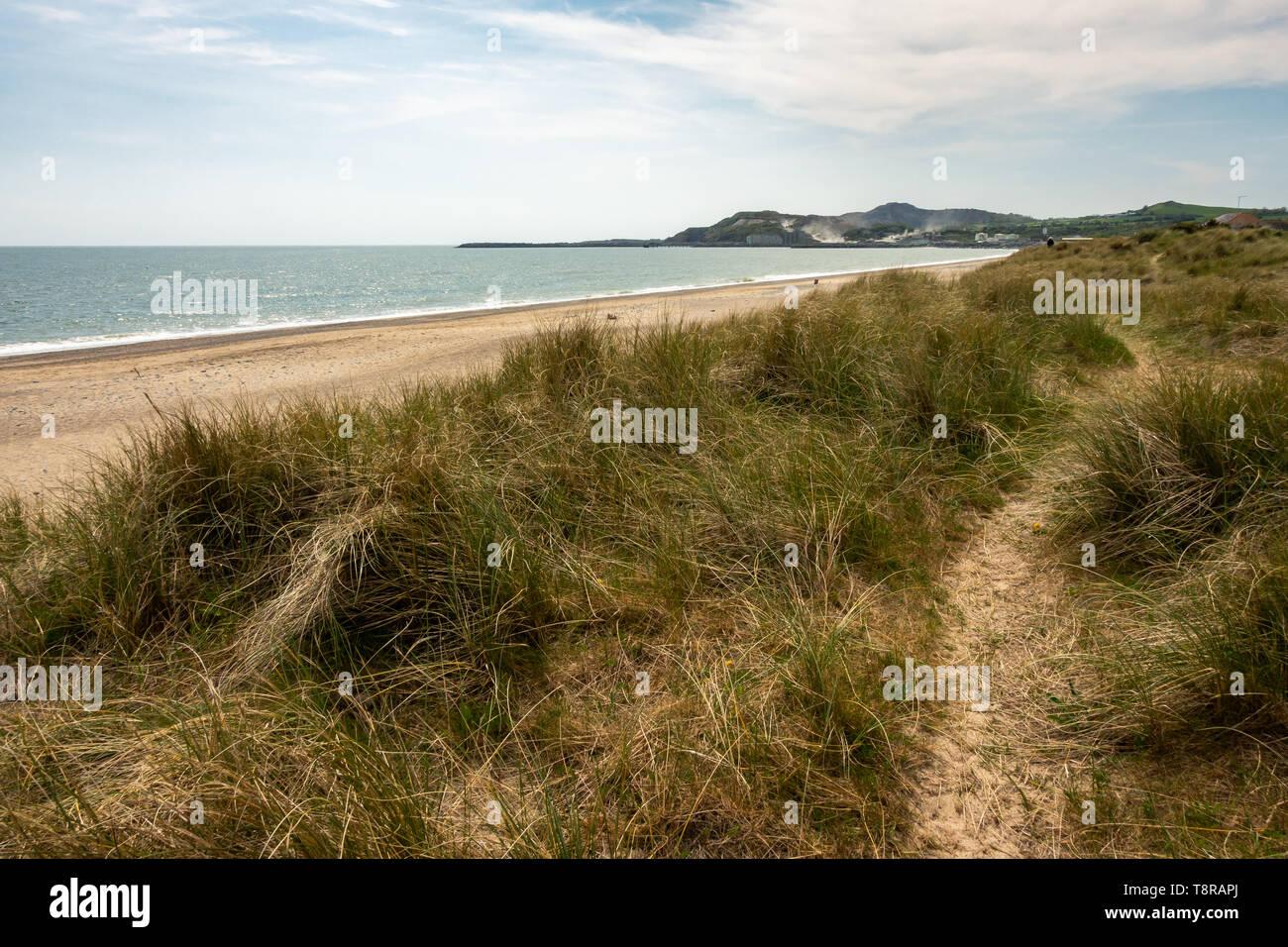 Arklow coastline in Ireland - Stock Image