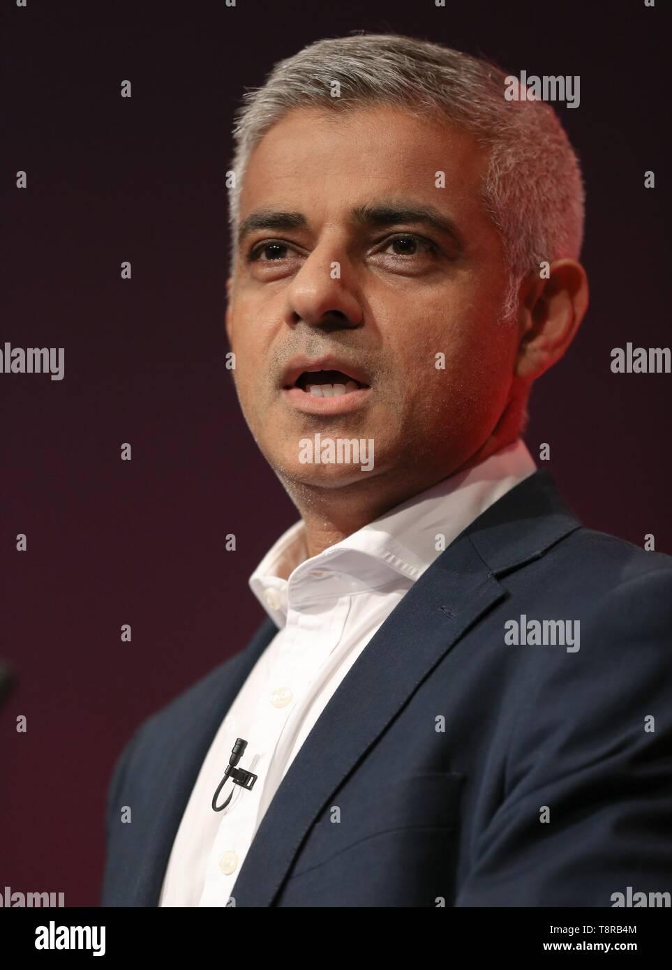 SADIQ KHAN, 2017 - Stock Image