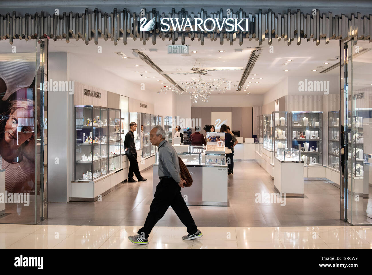 323352a22622 A pedestrian seen walking past the Austrian jewelry producer and luxury  brand Swarovski store in Hong